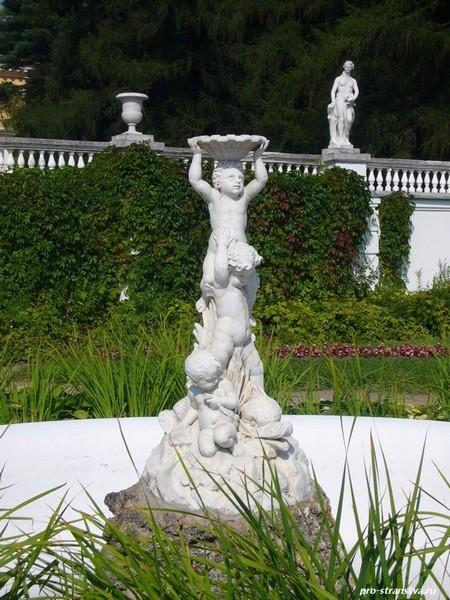 Итальянский террасный парк. Фонтан