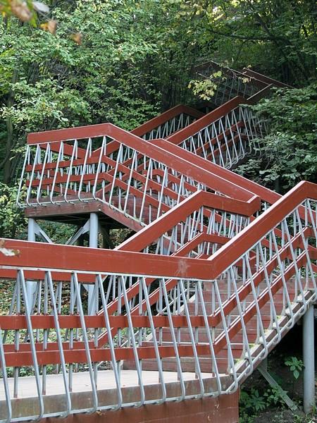 Деревянная лестница в Коломенском