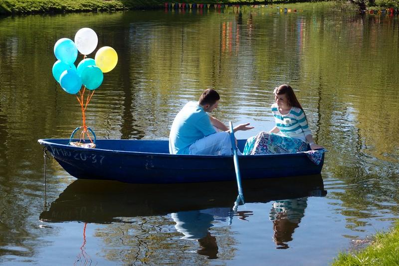 Романтическая лодка