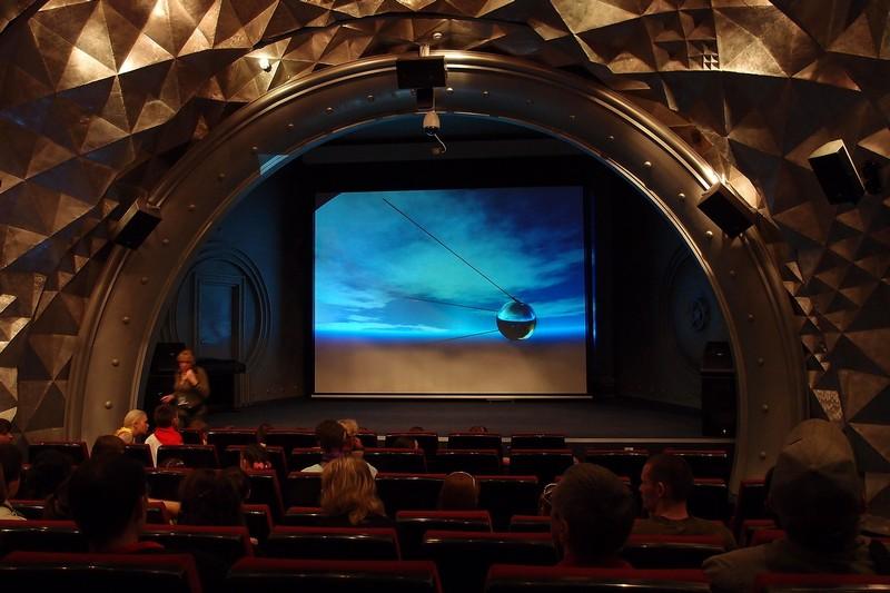 Кинозал в музее космонавтики