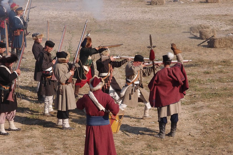 Стрельба из мушкетов