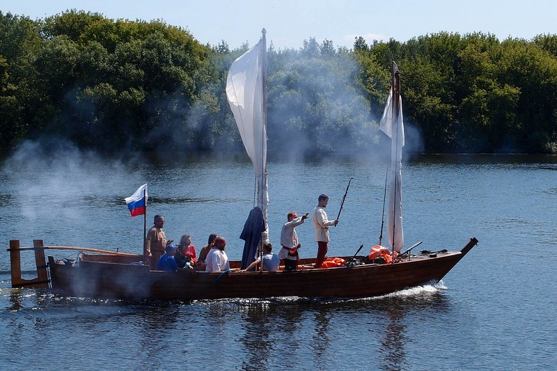 Казачье судно на Москве-реке
