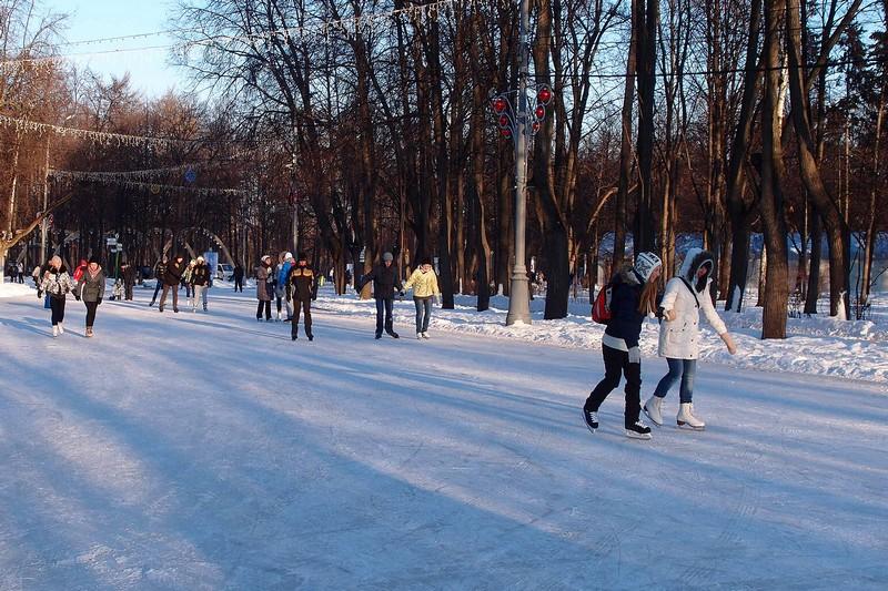 Каток в парке Сокольники 2013