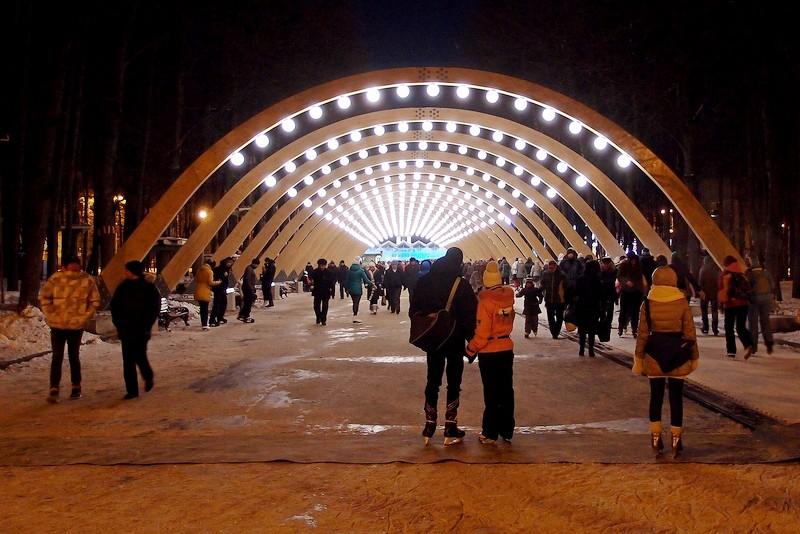 каток в парке Сокольники