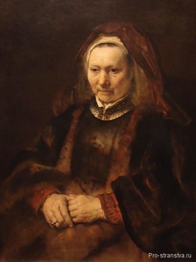 Портрет пожилой женщины кисти Рембрандта