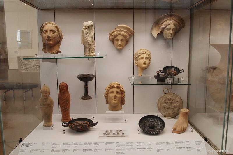 Экспонаты из Древней Италии