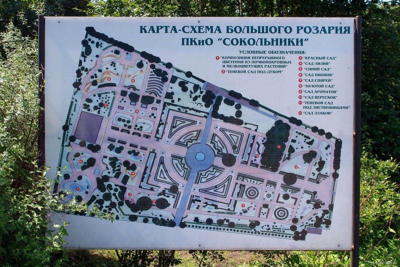 Карта-схема территории Большого Розария