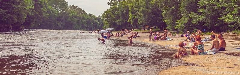 Водоем, где разрешено купаться