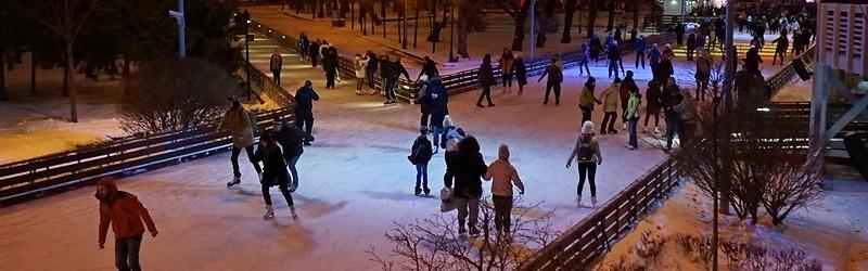 Фото катка в Парке Горького