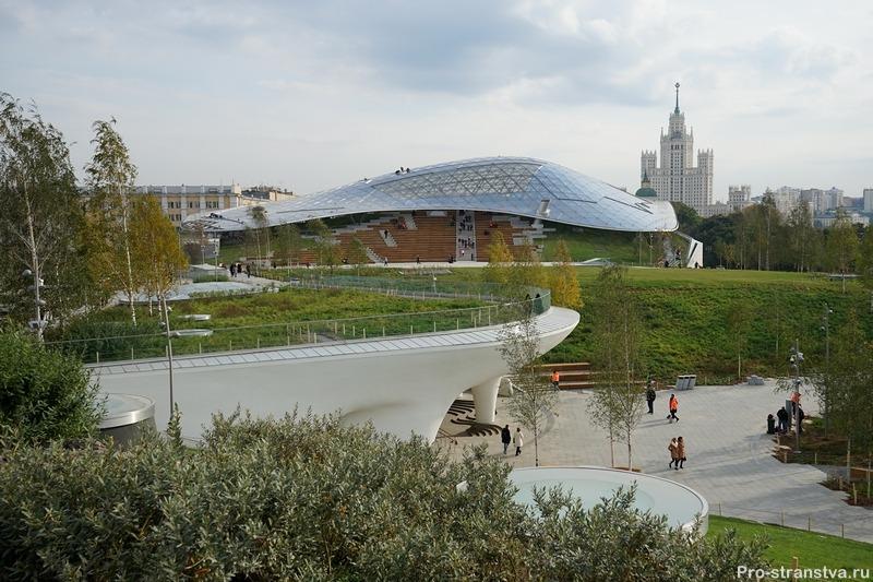 Большой амфитеатр под стеклянной крышей